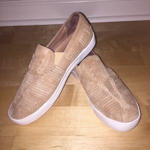 Joie Tan Suede Slip-On Sneakers